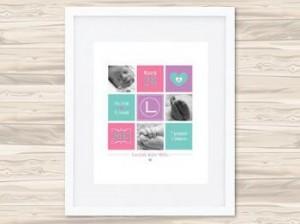Personalised Birth Details Prints Lucindasm