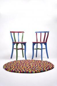 rainbow felt balls chair