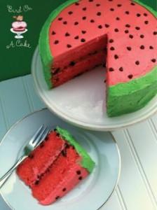 watermelon birthday cakesm