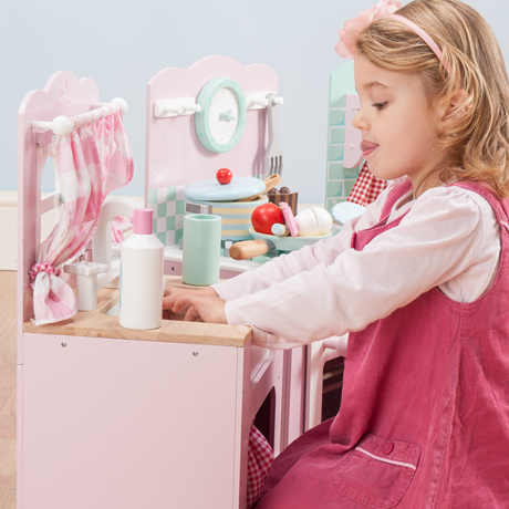 Le Toy Van – Wooden Toys – Honeybake Kitchen Sink {Pink}