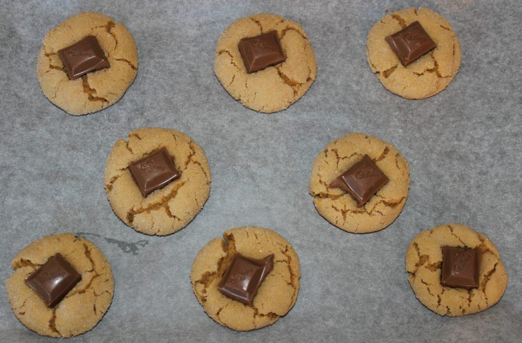 cadbury-chocolate-peanut-butter-blossom-cookies