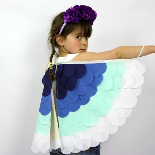 Kids Costumes Dress Up Rainbow Bird Wings OCEAN