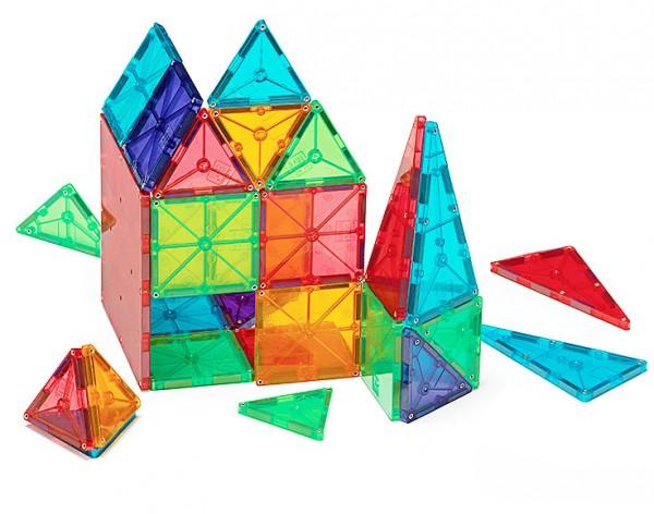magna tiles clear colours 100 piece magnetic building tiles
