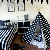 Finlee and Me Kids Teepees Black Spots Teepee