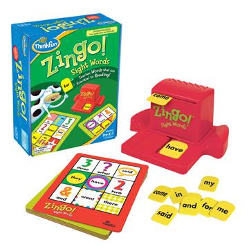 Zingo Sight Words Bingo Game
