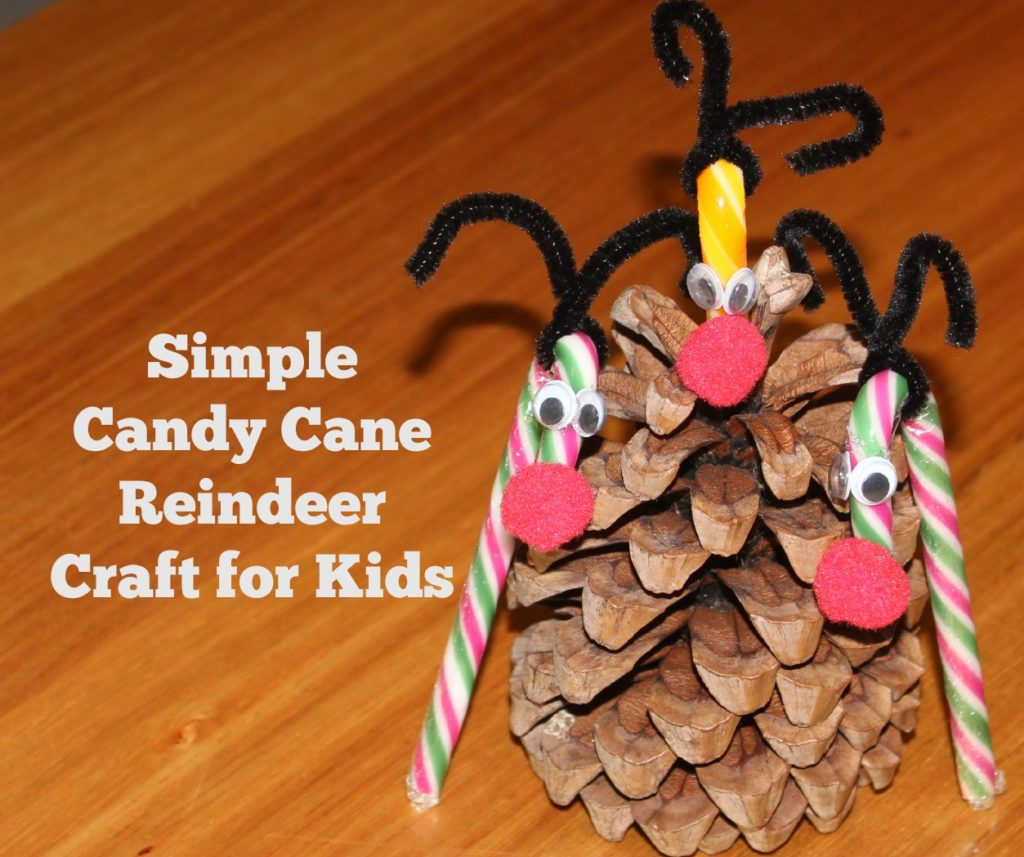 30 Days of Christmas Cheer Candy Cane Reindeer Craft for Kids