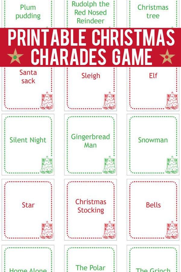 30 Days of Christmas Cheer Charades Game