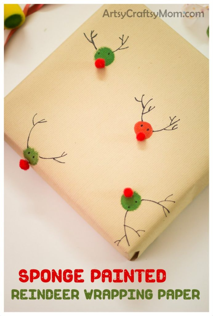 30 Days of Christmas Cheer Craft Idea Handmade Wrapping Paper