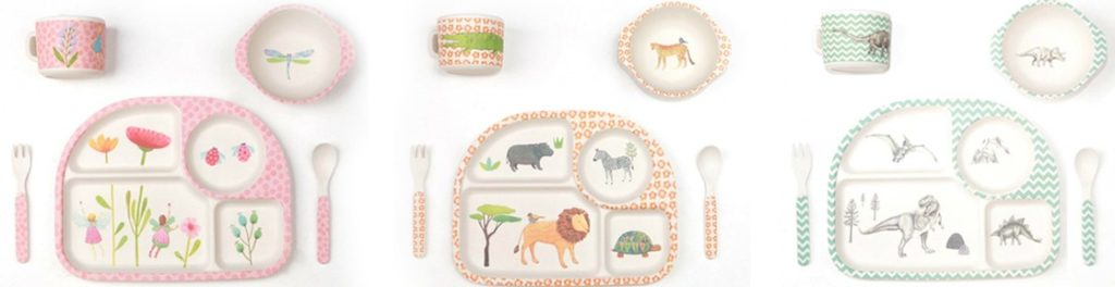30 Days of Christmas Cheer Gift idea Bamboo Dinner Sets for Kids