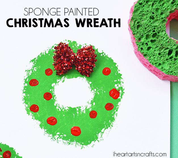 30 Days of Christmas Cheer Sponge Painted Christmas Tree