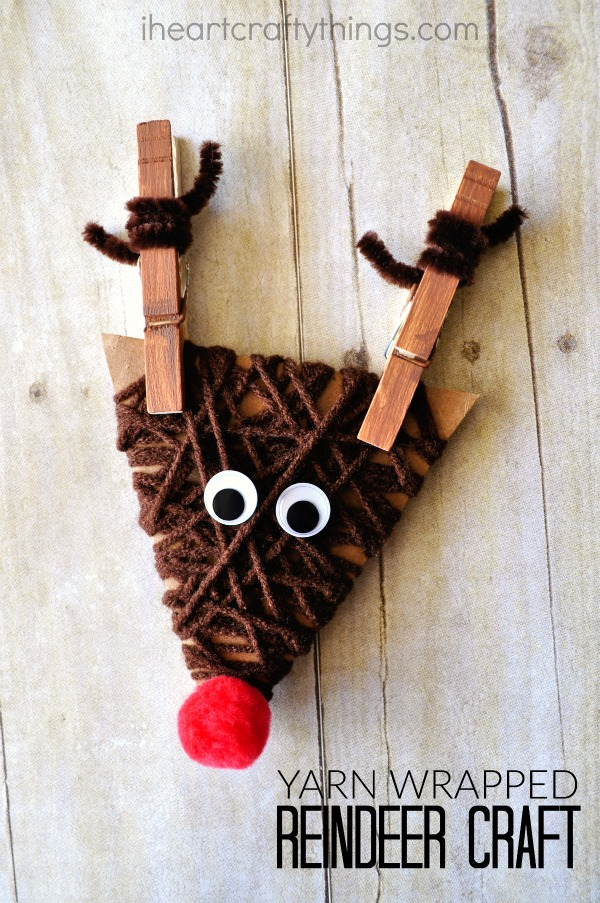 30 Days of Christmas Cheer Yarn Wrapped Reindeer Craft Day 23