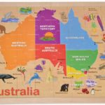 Finlee and Me- Puzzles for Kids- Australia Map Wooden Jigsaw Puzzle