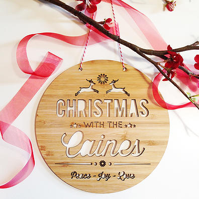 Personalised Christmas Decorations- Family Name Wall Hanging