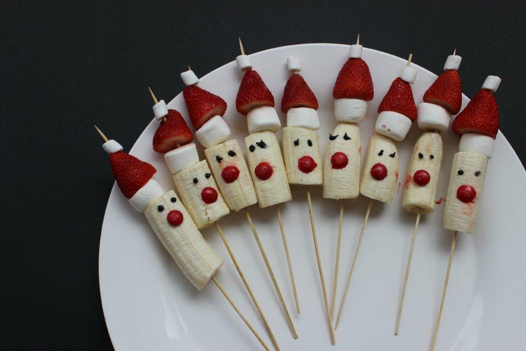 Strawberry Santas Recipe for Healthy Christmas Treats