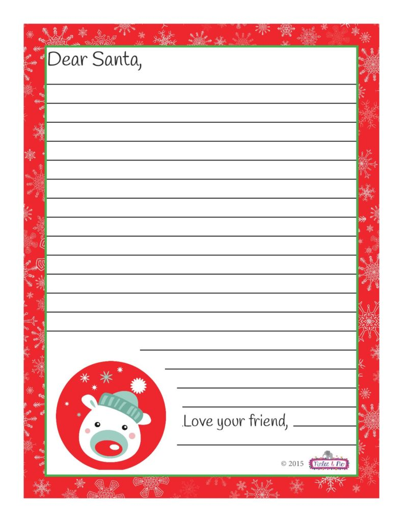 """... To Santa Envelope With The Address On It Template"""" – Calendar 2015"""