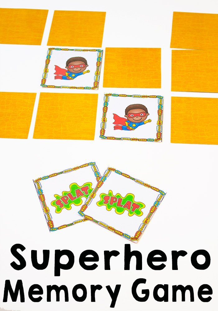 30 Days 30 ways of Connecting with your Kids Superhero Memory Game Day 3