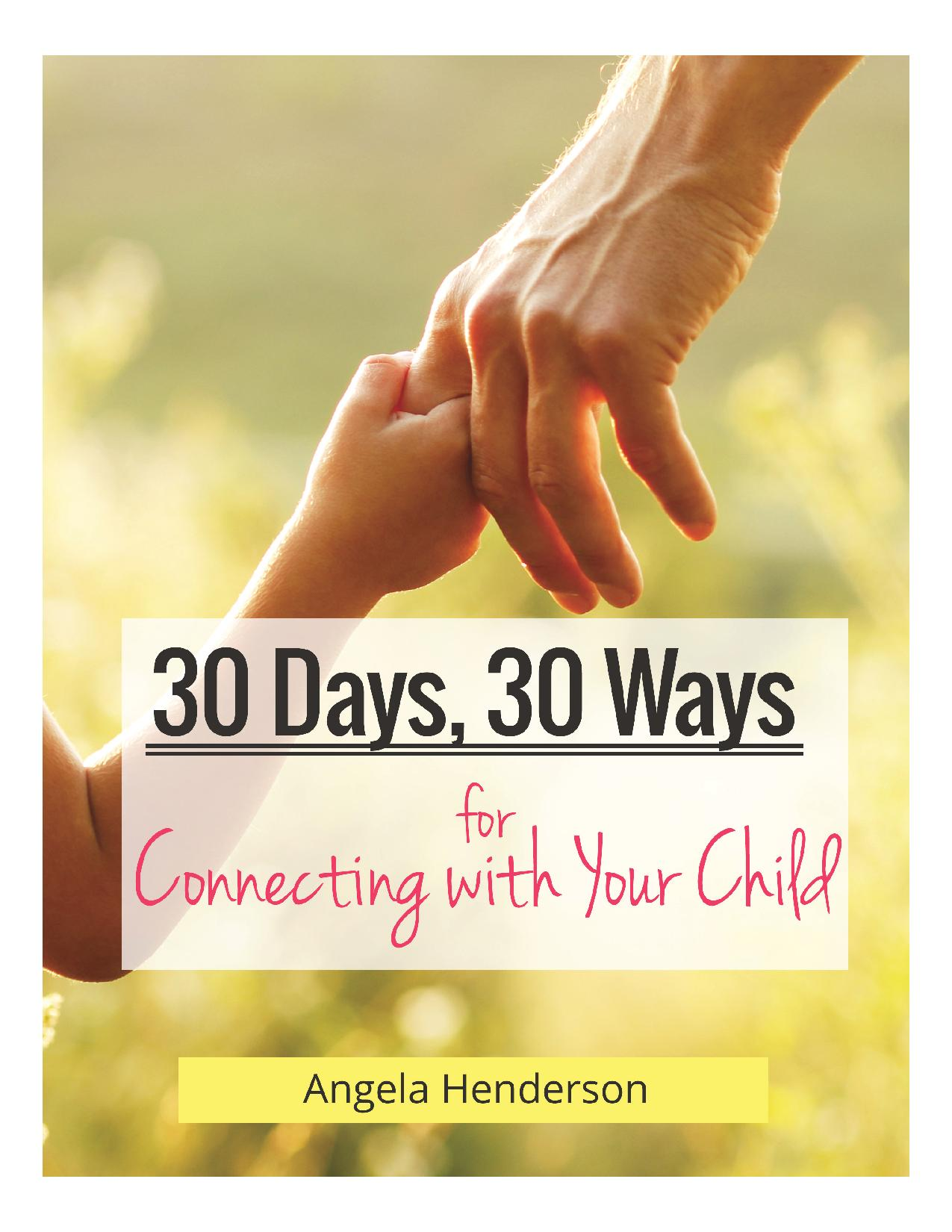 30 Days, 30 Ways for Connecting with your Child