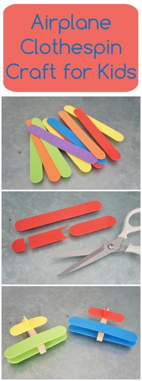 30 Days 30 Ways Airplane Clothespin Craft Day 24