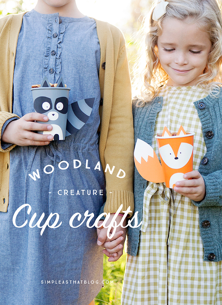 30 Days 30 Ways COnnect with Kids Woodland Creature Cup Crafts Day 23