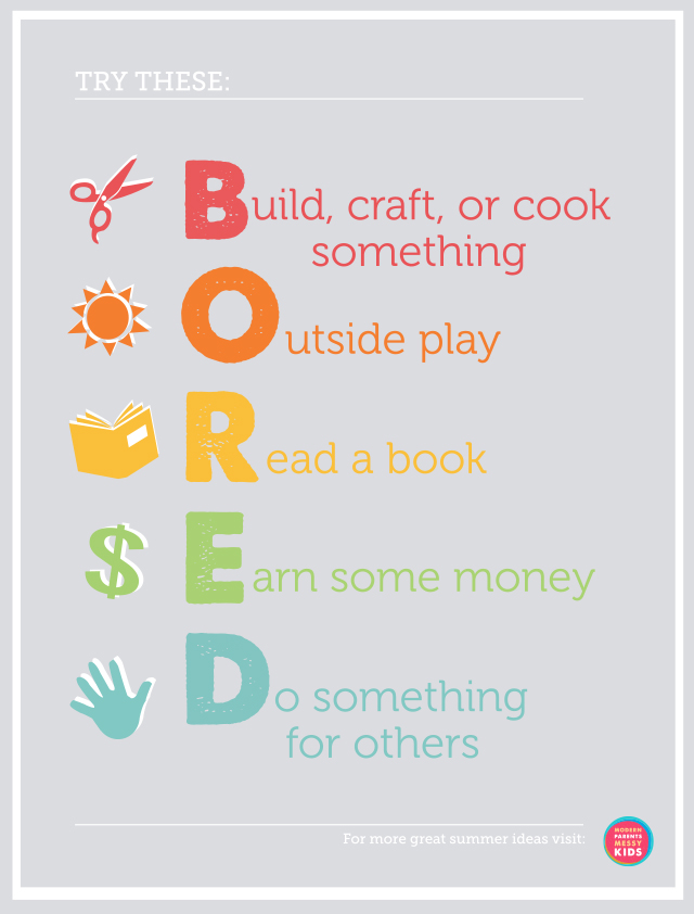 30 Days 30 Ways Connect with Kids Bored Poster Day 11