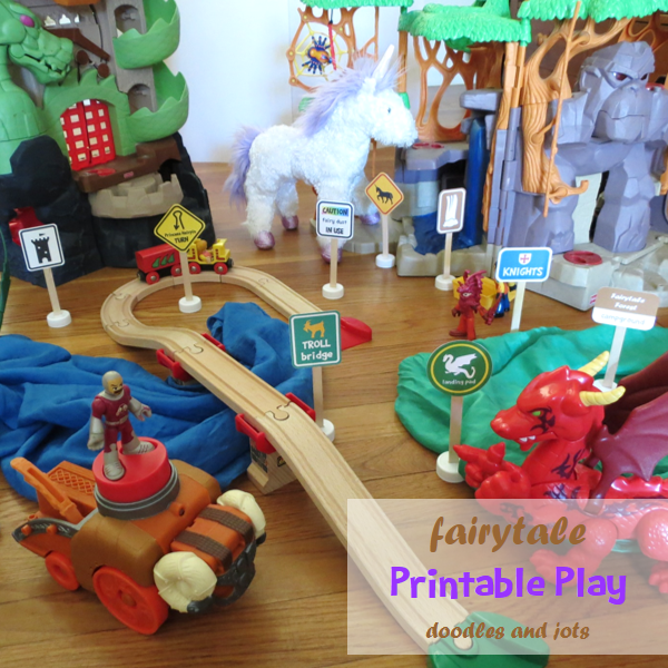 30 Days 30 Ways Connect with Kids Fairytale Printable Road Signs Day 9