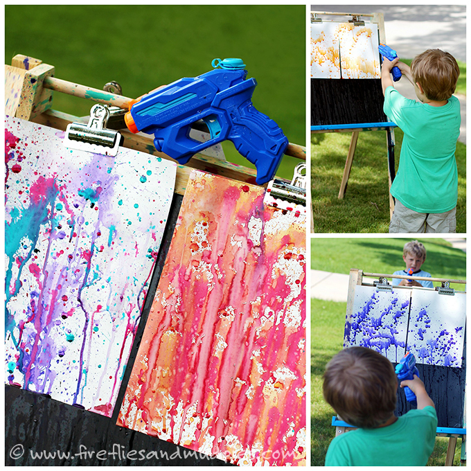 30 Days 30 Ways of Connectin with your Kids squirt-gun-painting-Day 5