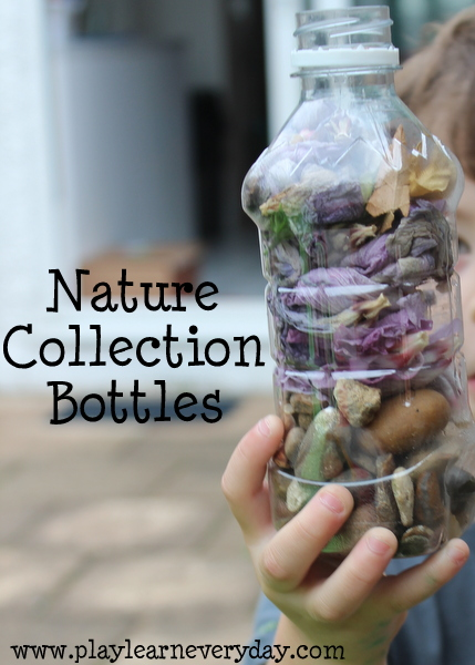 30 Days 30 Ways of Connecting with your Kids nature collection bottles Day 2