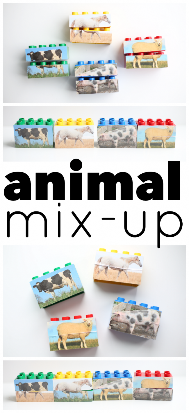 30 Days 30 Ways to Connect with Kids Animal-Mix-Up Day 21