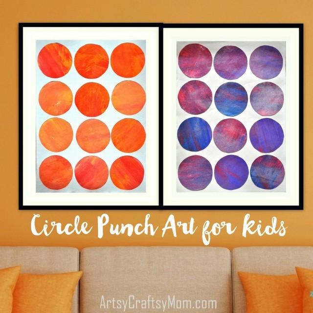 30 Days 30 Ways to Connect with Kids Circle Punch Art Day 7