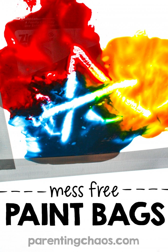 30 Days 30 Ways to Connect with Kids Mess Free Paint Bags Day 13