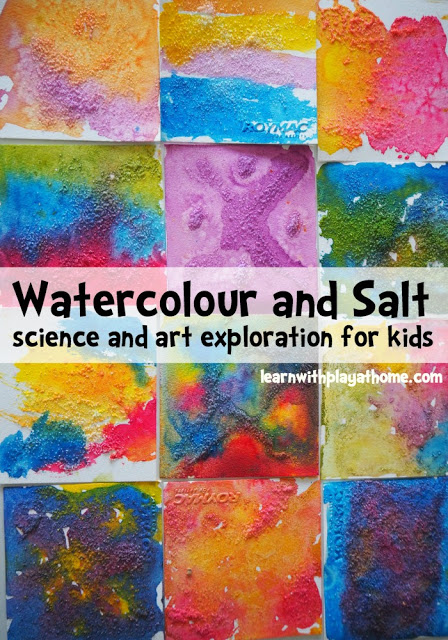 30 Days 30 Ways to Connect with Kids Salt and Watercolour Day 14