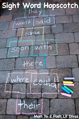 30 Days 30 Ways to Connect with Kids Sight Word Hopscotch Day 29