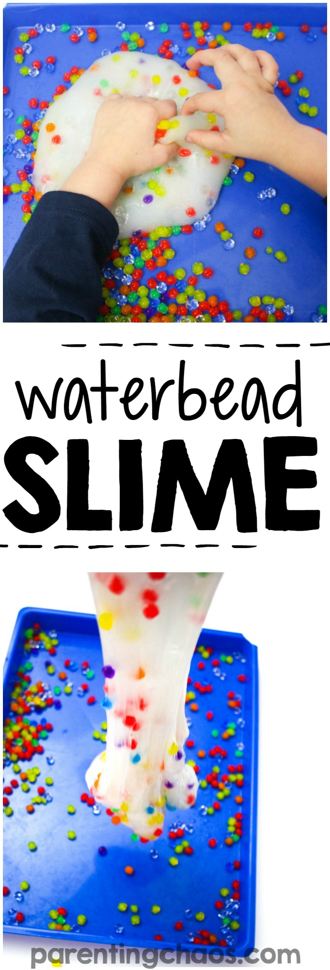 30 Days 30 Ways to Connect with Kids Waterbead Slime Day 19