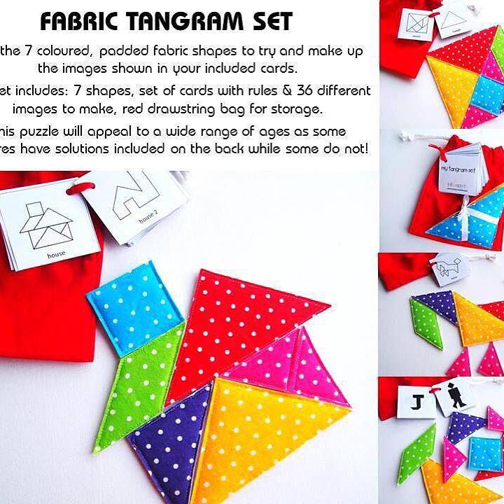 30 Days 30 Ways to Connect with your Kids Fabric Tangram Set DAY 21