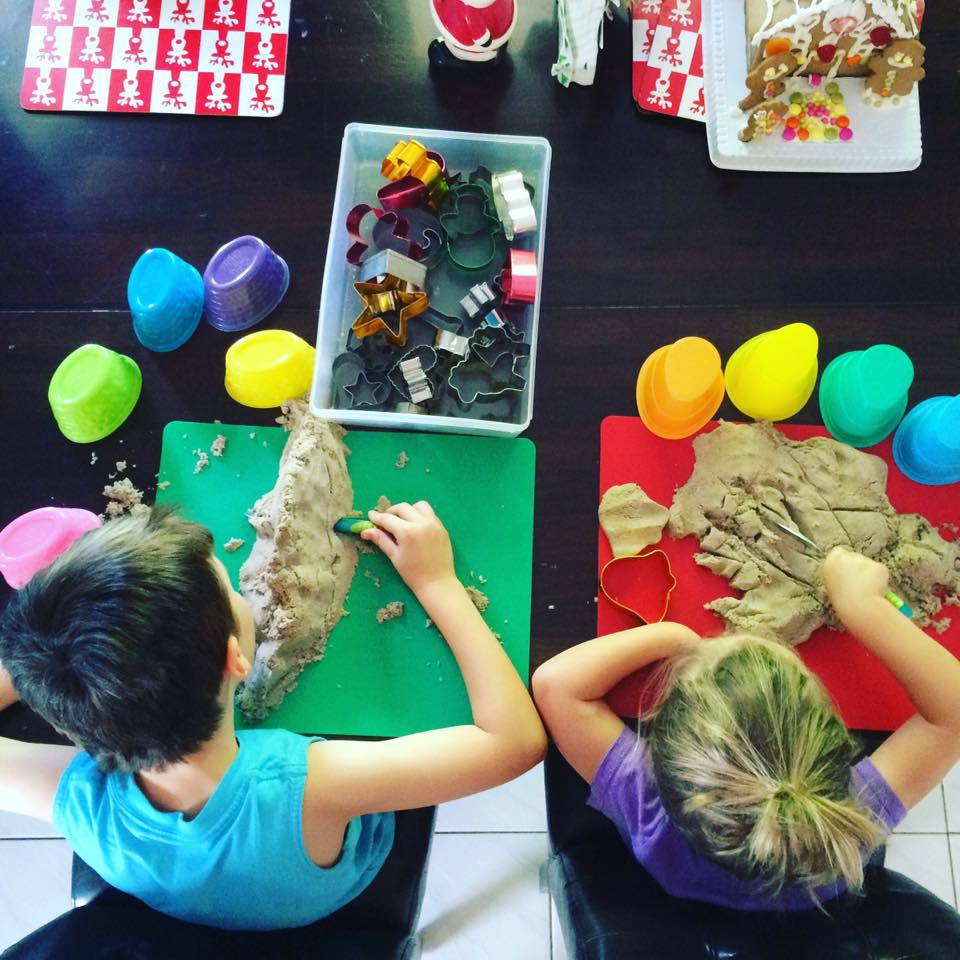 30 Days 30 Ways to Connect with your Kids Kinetic Sand DAY 13