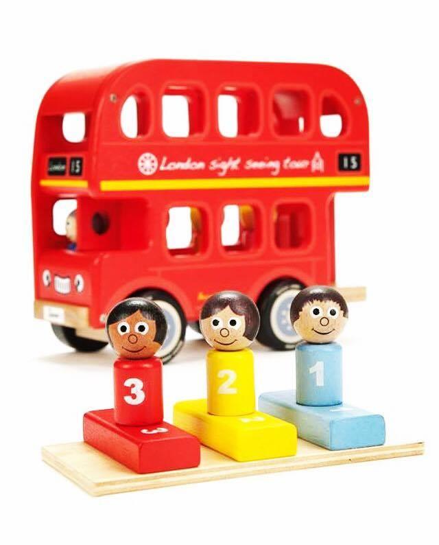 Non-candy-easter-basket-idea-wooden-london-bus
