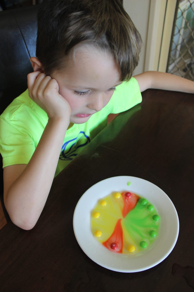 skittles science experiment by finlee and me