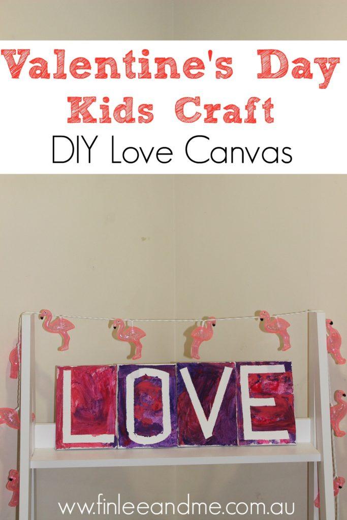 Valentine's Day craft love Canvas