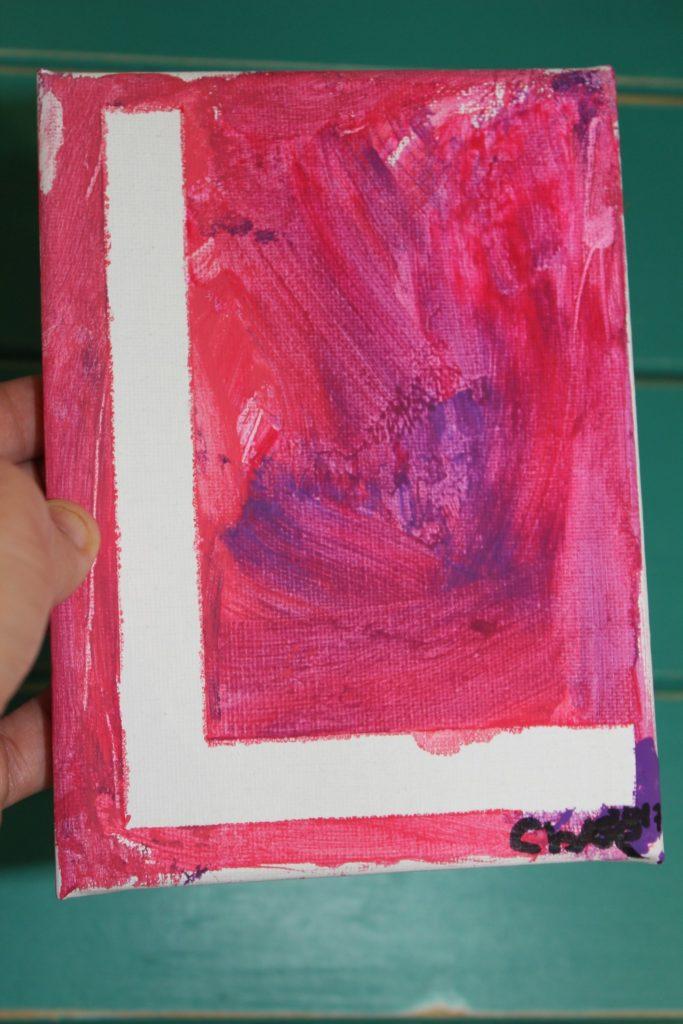kids valentine's day craft idea love canvas