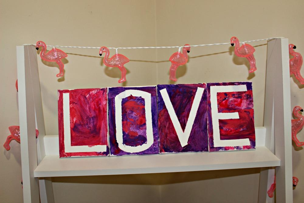 love canvas diy valentine's day