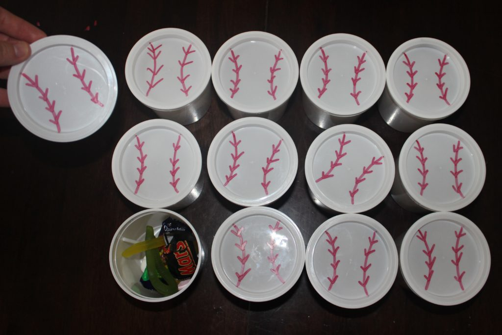 Kids baseball party lolly cups from Finlee and Me