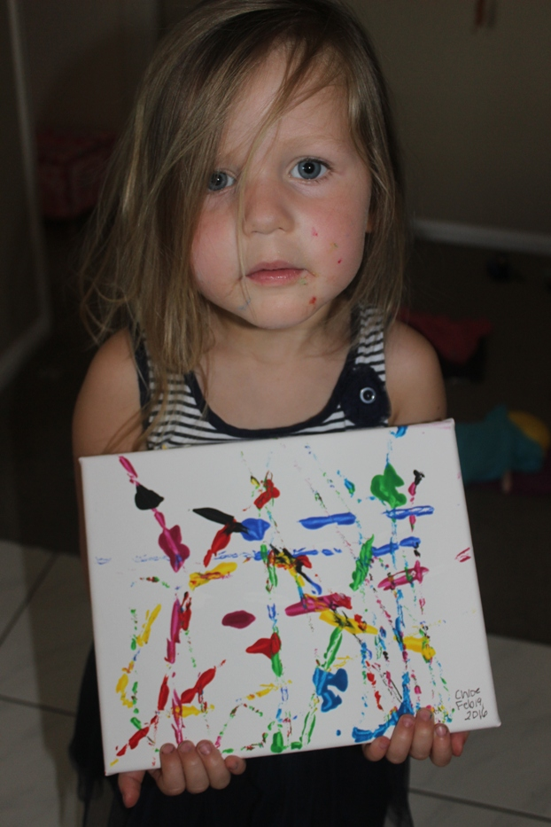Kids artwork fun painting activity with Finlee and Me