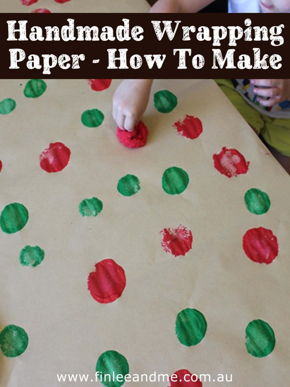 Handmade wrapping paper, how to make with Finlee and Me