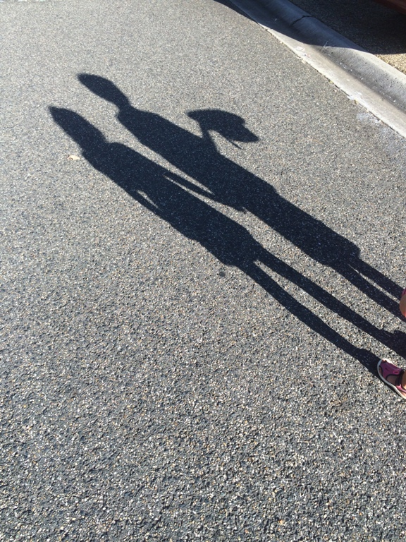 Outdoor nature activities with kids shadow fun with Finlee and Me