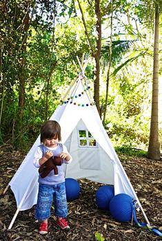 Finlee and Me- Kids Teepees- Teepee Tents {Natural, 5 foot}