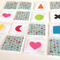 Two in One Fabric Game: Memory Game & Bingo – Wave Dots