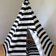 Finlee and Me- Kids Teepees- Teepee Tents {Black and White}