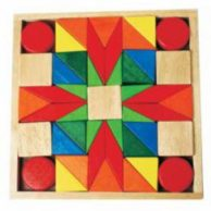 Wooden Blocks for Toddlers {Set of 45}