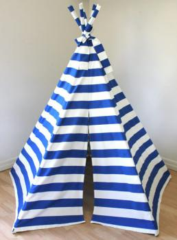 Finlee and Me- Kids Teepees- Teepee Tents {Blue and White}