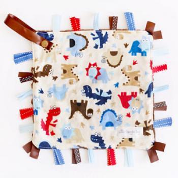 Finlee and Me- Baby Comforters- Dinosaur Sensory Blanket Snugglie